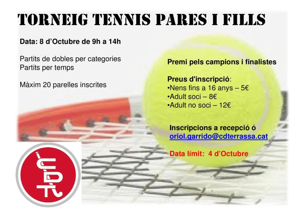 Torneig Tennis pares i fills
