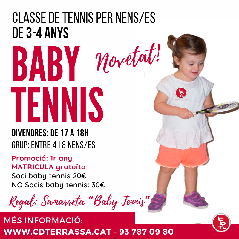 baby tennis cd terrassa